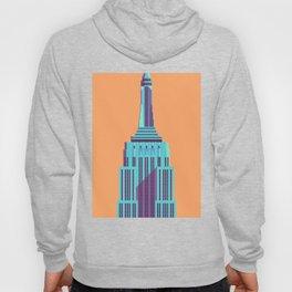 Empire State Building New York Art Deco - Orange Hoody