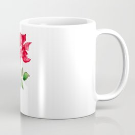 one red rose watercolor  Coffee Mug