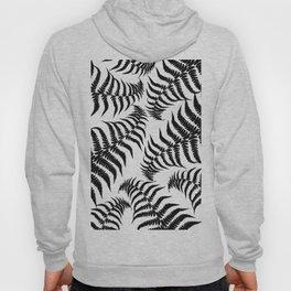 Fern Leaves Pattern - Black Dream #1 #ornamental #decor #art #society6 Hoody