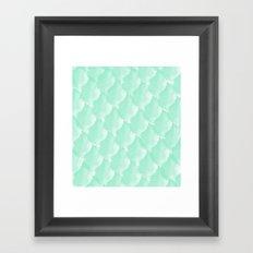 Mint Scallop Framed Art Print