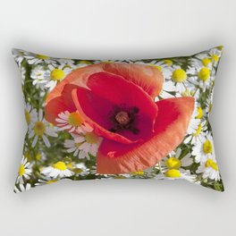 Poppy and the flowers Rectangular Pillow