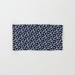 Blue Butterfly Pattern - Dark Hand & Bath Towel