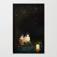 spirited away Canvas Prints featuring Spirited Away by Jessica P.