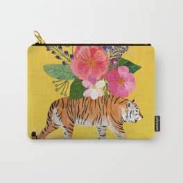 Tiger Bloom Carry-All Pouch