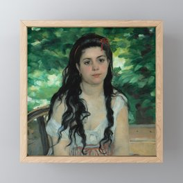 "Auguste Renoir ""En été - La bohémienne (In summer - Gypsy woman)"" Framed Mini Art Print"