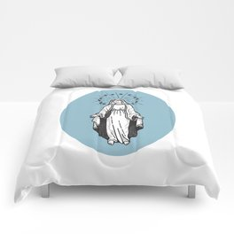 Virgin Mary Blue Comforters