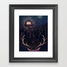 Curious Framed Art Print