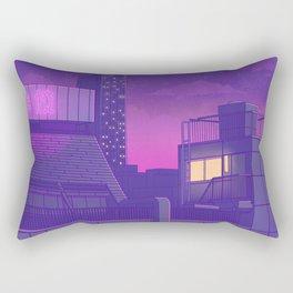 Shinjuku Night Lights Rectangular Pillow