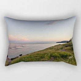 twilight at the sea Rectangular Pillow