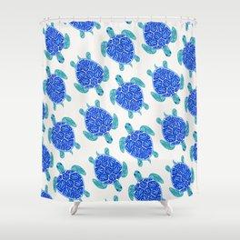 Sea Turtle – Blue Palette Shower Curtain