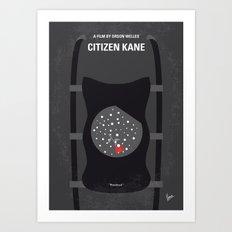 No605 My Citizen Kane minimal movie poster Art Print
