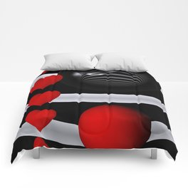 red white black -101- Comforters