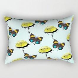 Butterflies In The Rain 2 Rectangular Pillow