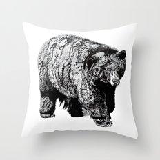 Bear Square Throw Pillow