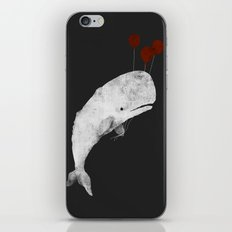 Whale with Balloons iPhone & iPod Skin