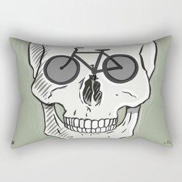 Skullbikery digital art by British artist Peter Gander Rectangular Pillow