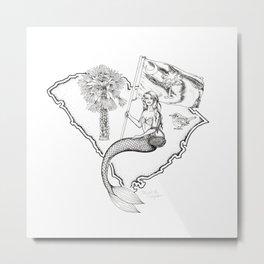 South Carolina Mermaid Metal Print