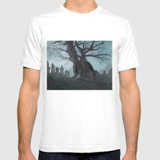 Ancient tree Mens Fitted Tee White MEDIUM