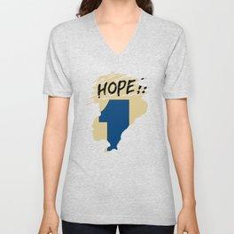 Hope!! (time machine ) Unisex V-Neck