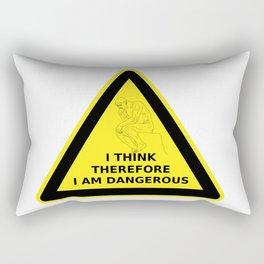 I think therefore I am dangerous - danger road sign T-shirt Rectangular Pillow