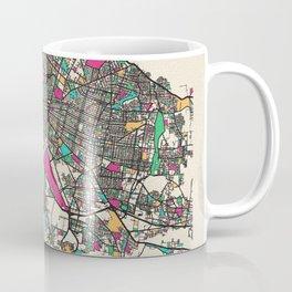 Colorful City Maps: Guadalajara, Mexico Coffee Mug