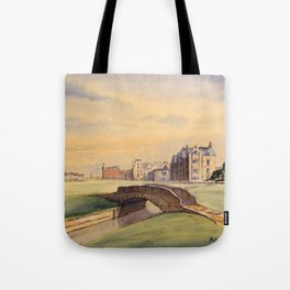 St Andrews Golf Course Scotland 18th Hole Tote Bag