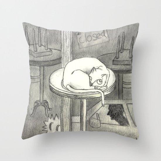 closed Throw Pillow