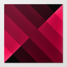 Black and Hot Pink abstract Canvas Print