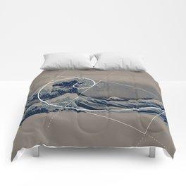 Hokusai Meets Fibonacci Comforters