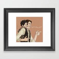 Ben & Han Framed Art Print