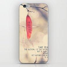 Take Peace iPhone & iPod Skin