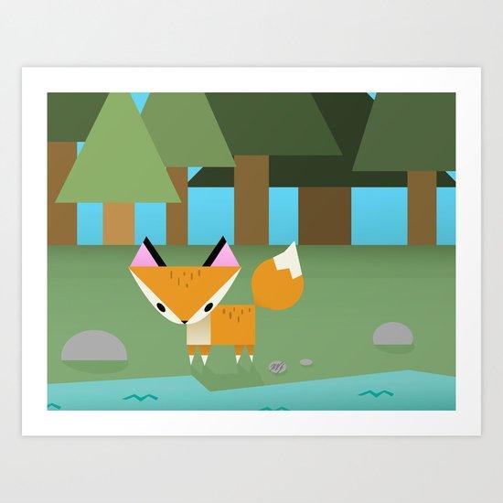 Paper Forest Art Print