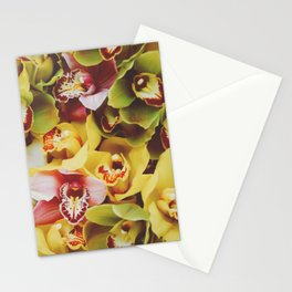 Close up Orchid 22 Stationery Cards