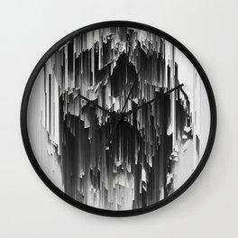 Skull Liquify Wall Clock