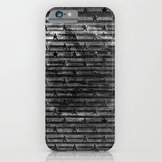 Black Stars & Black Stripes iPhone 6s Slim Case