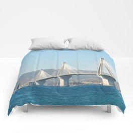 Rio Antirrio Bridge Comforters