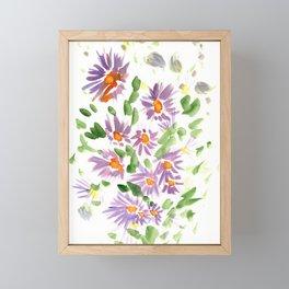 Purple Wildflowers Framed Mini Art Print