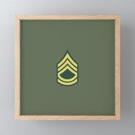Sergeant First Class (OD Green) Framed Mini Art Print