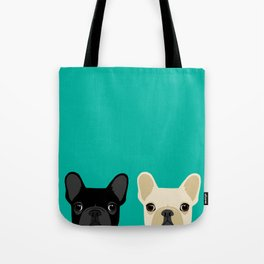 2 French Bulldogs Tote Bag