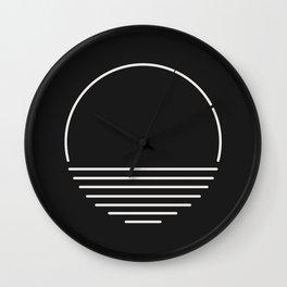 Sun Sand Saltwater - Black Wall Clock