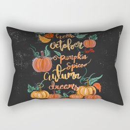 Hello October Rectangular Pillow