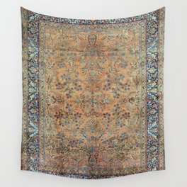 Kashan Floral Persian Carpet Print Wall Tapestry