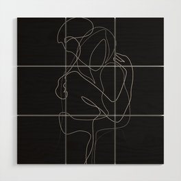 Lovers DarkVersion Wood Wall Art