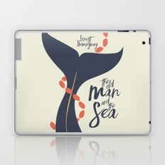 the Old Man and The Sea - Hemingway Book Cover Illustration Laptop & iPad Skin