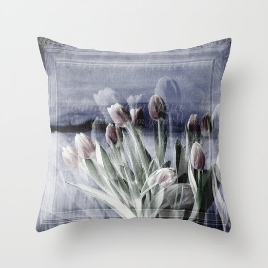 Paint me tulips Throw Pillow