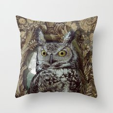 Moonlight Escape Throw Pillow
