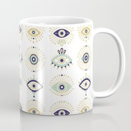Evil Eye Collection on White Coffee Mug