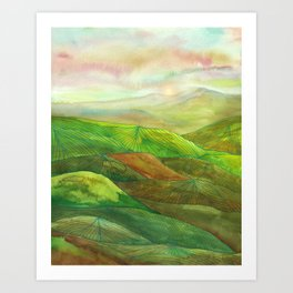 Lines in the mountains XVI Art Print