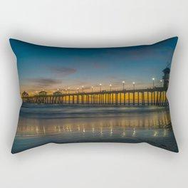 Pier Lights at Dusk Rectangular Pillow
