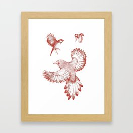 A beat of wings Framed Art Print